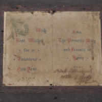Ww1 Christmas Card From Princess Mary Detail
