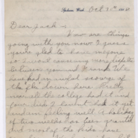 Ww1 Connie Letter Oct 30 Recto