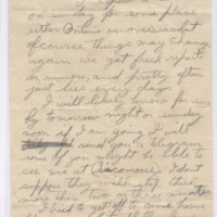 Ww1 Rollie Hayes Letter Recto